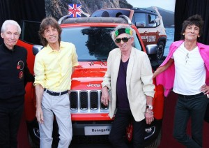 Venduta all'asta la Jeep Renegade dei Rolling Stones