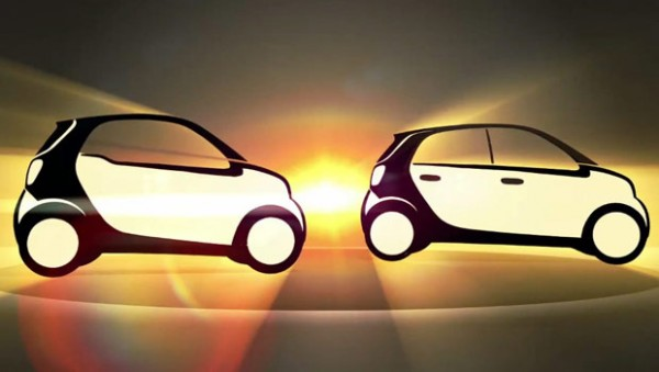 Nuove smart fortwo e forfour, i teaser ufficiali (VIDEO)