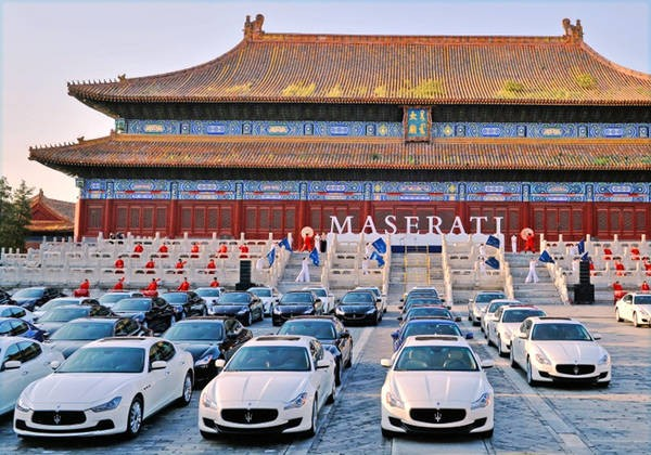 China-Italy Centennial Rally Maserati, partito da Pechino